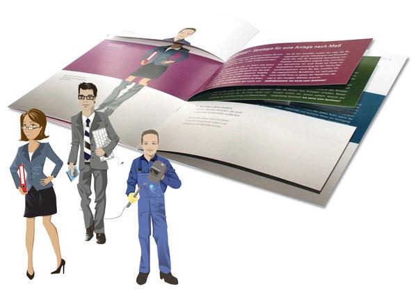 Die Hauptfiguren der Publikation treten in den Vordergrund.