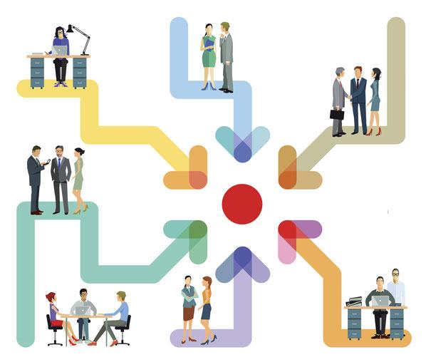 Für den Informationsaustausch in Unternehmen bleiben die bewährten Kanäle (Intranet, Mitarbeiterzeitung und Schwarzes Brett) im Fokus.