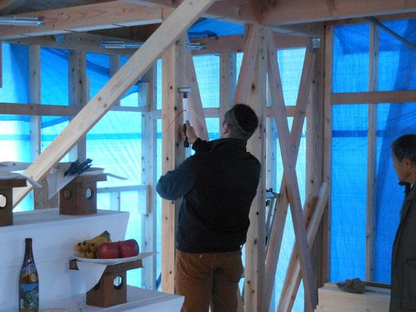 大町の家Ⅱ 大町市 新築工事 長野県松本市安曇野市の建築家 建築設計事務所 現場監理 住宅設計 設計監理 上棟式