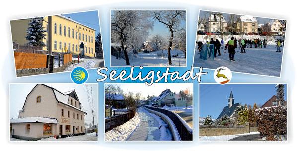 Bild: Teichler Seeligstadt Sachsen Postkarte Winter