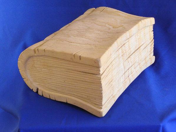 Lesestoff aus Stein. das ganz besondere Geschenk. Kunstbuch für die Bibliothek. Deko für die Bibliothek. must have für deine Bibliothek.