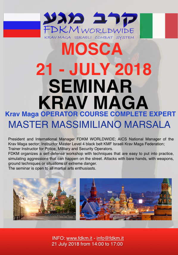 FDKM KRAV MAGA SEMINAR IN RUSSIA 21 JULY 2018