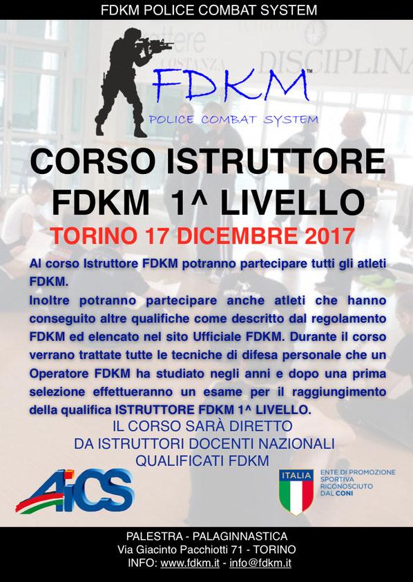 CORSO ISTRUTTORI FDKM TORINO DICEMBRE 2017