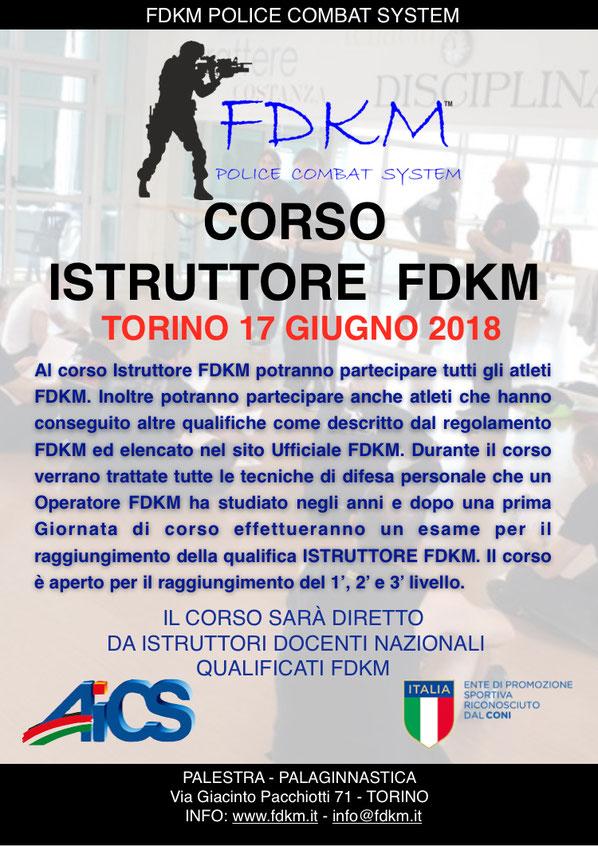 CORSO ISTRUTTORI FDKM TORINO 17 GIUGNO 2018
