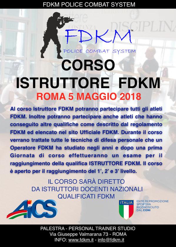 CORSO ISTRUTTORI FDKM ROMA 5 MAGGIO 2018