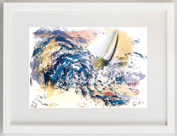 "42 / CAMILLO BUCCELLA, ""I Found Harmony in the Sea"", Digital painting, 30 x 20"