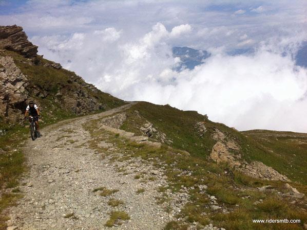 la cima del Ciantiplagna è poco sopra di noi....ci limitiamo a vederla