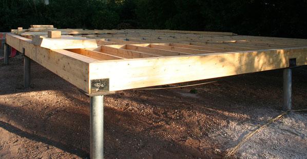 Maison ossature bois sur micro pieux r alis e par la for Micro maison bois