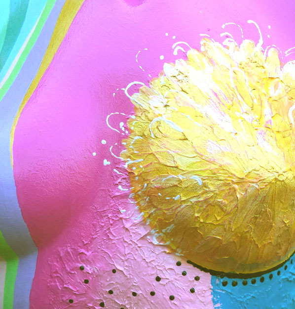 Torso 12 / 9, Skulptur, bunt, abstrakt, Art, Kunst, Malerei, Original, Unikat, Kunststoff, Acryl, Detail
