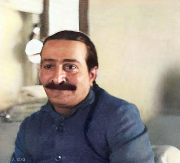 1936 : There are no known photo taken of Meher Baba in Aden. Image colourized by Anthony Zois.