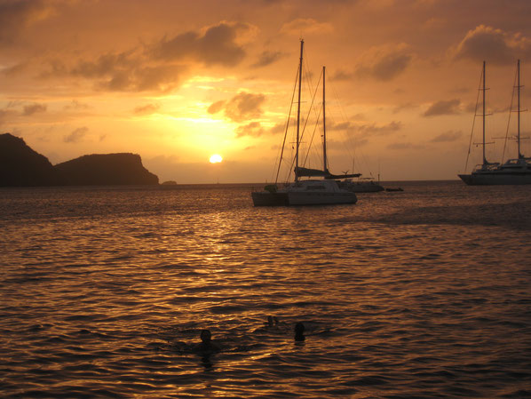 Sonnenuntergang Grenadinen