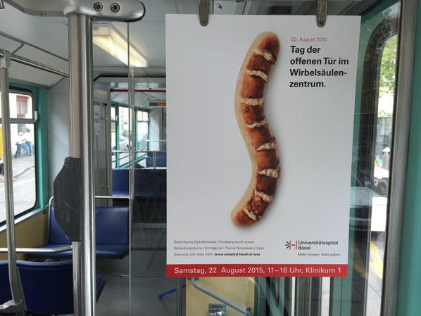 Die Botschaft grandios auf den Punkt gebracht: Veranstaltungsplakat des Universitätsspitals Basel