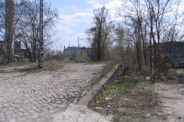 Die Königliche Militär-Eisenbahn. Kopframpe der alten Ladestraße in Marienfelde.