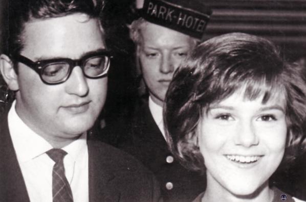 Nero Brandenburg und Peggy March 1964 am Parkhotel