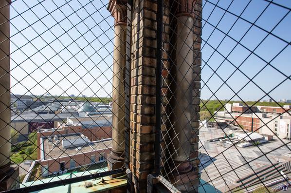 Blick vom Turm auf das Kulturforum.