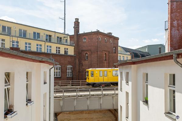 Die Hochbahn am Gleisdreieck.