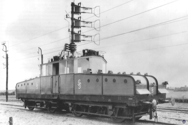 Die Königliche Militär-Eisenbahn. Versuchslok von Siemens auf der Militärbahn.