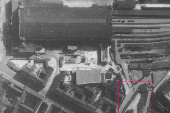 Luftaufnahme von 1940