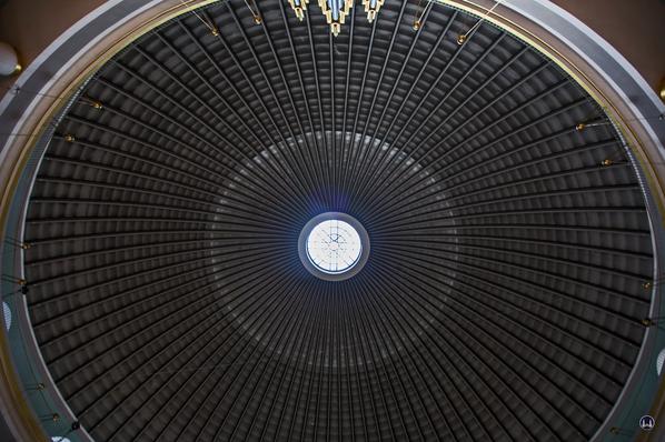 Blick in die Kuppel der St.-Hedwigs-Kathedrale