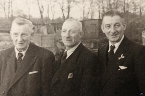 Die Brüder Paul, Hans und Otto Schmidt.