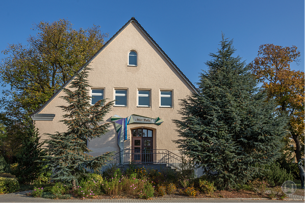 Alte Aula, Frontseite.