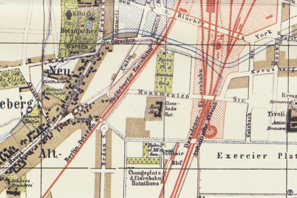 Die Königliche Militär-Eisenbahn. Karte des Militärbahnhofs Schöneberg.