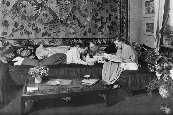 Fritz Lang und seine Ehefrau.
