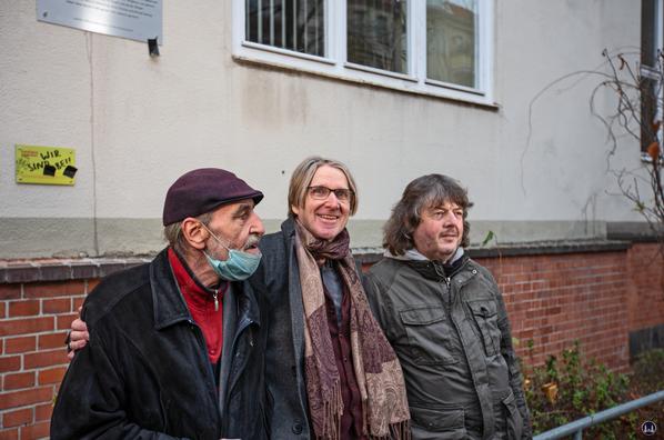 """Bernd Radowicz (Begründer des Rock-Archivs), Lutz """"Lüül"""" Graf-Ulbricht, Bernd Kistenmacher"""