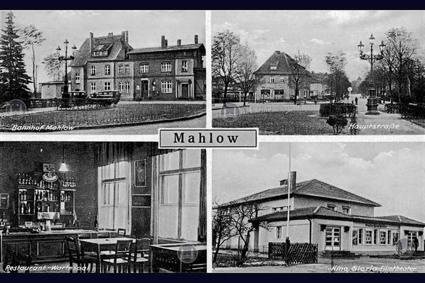 Alter Bahnhof Mahlow. Kino Mahlow.