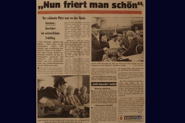 Zeitungsartikel Eierfahrt 1962.