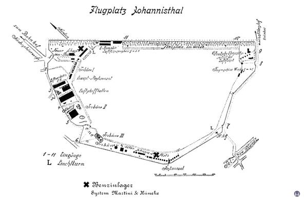 Der Flugplatz Johannisthal 1909.