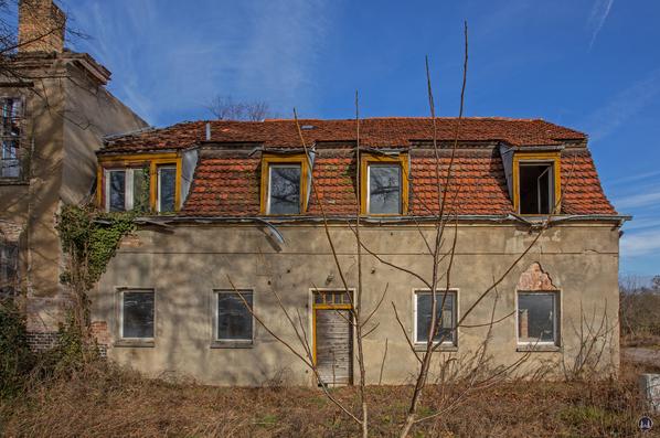 Historischer Gutshof Schloss Dahlewitz. Rechter Seitenflügel.