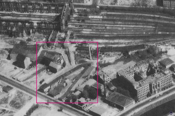 Luftaufnahme von 1950
