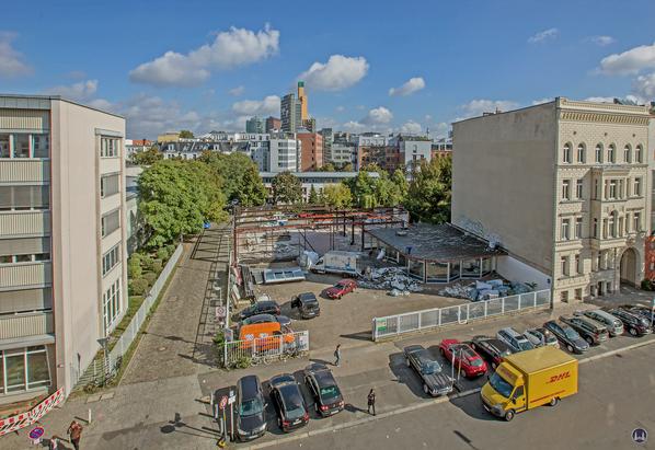Berlin Lützowstraße. Autowerkstatt Michael Pötschke. Abriß der Werkhalle