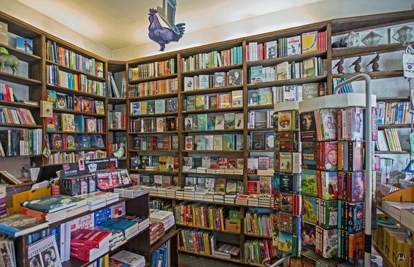 Lichtenrader Bücherstube Innenansicht des Buchladens in der Bahnhofsstraße
