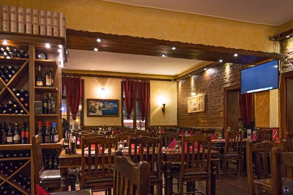 Alter Gutshof Freiberg, Alt-Mariendorf in Berlin. Restaurant Villa Christina.