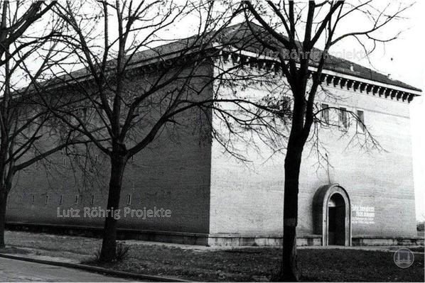 Bunker Eiswaldtstraße in Berlin - Lankwitz. Ansicht nach Kriegsende.