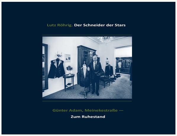 Der Schneider der Stars. Günter Adam, Titelblatt.