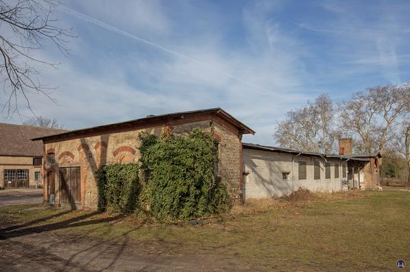 Historischer Gutshof Schloss Dahlewitz. Waschhaus und Schmiede.
