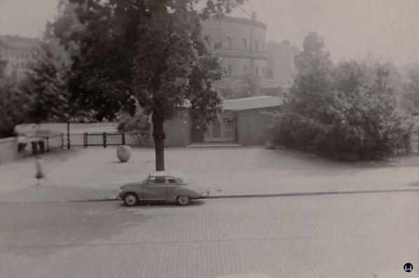 Gewerbehof Körtestraße 10 in Berlin - Kreuzberg. Schwarz- Weiß Aufnahme des Kindergarten - Ende der 1960er Jahre.
