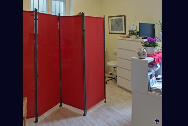 Der Fußpflegesalon von Frau Margit Müller neben den Räumen der Druckerei.