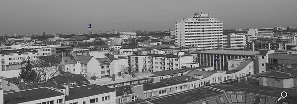 Dach der Lützowstraße. Erklärung der Gebäude 7