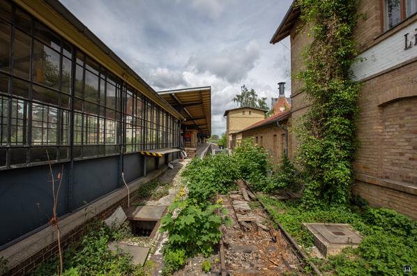 Der Bahnhof Lichtenrade. Altes Streckengleis.
