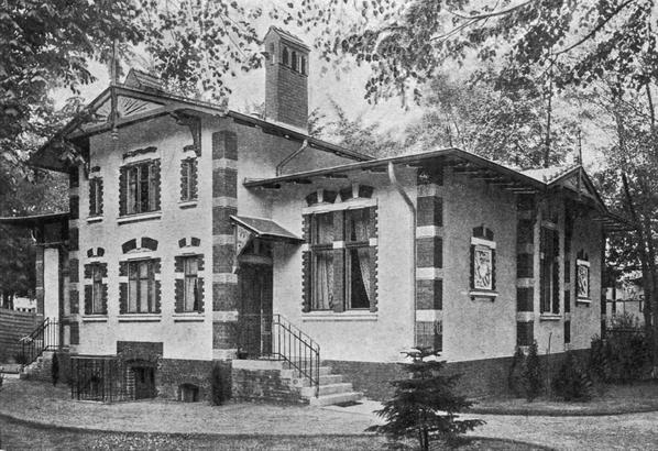Die Kuranstalt Berolinum an der Lankwitzer Leonorenstraße. Alte Aufnbahme des Damenhaus III.