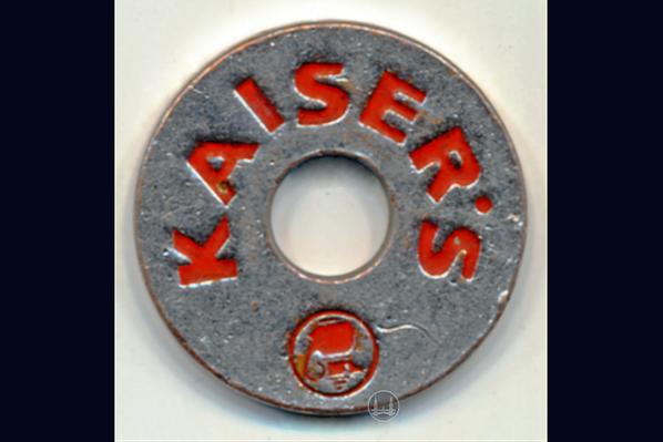 Einkaufs - Chip von Kaiser's.
