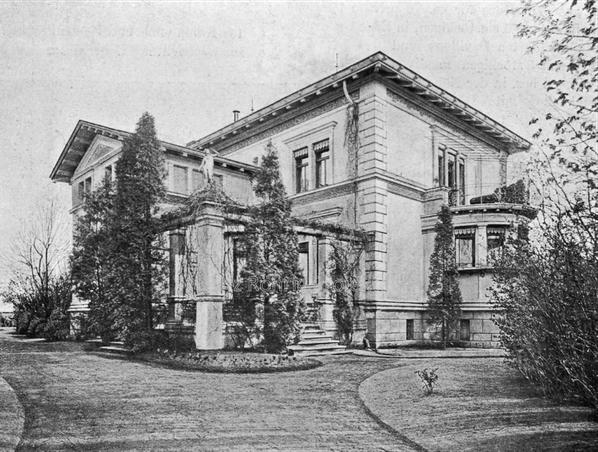 Die Kuranstalt Berolinum an der Lankwitzer Leonorenstraße. Histrische Aufnahme des Damenhauses I.