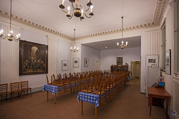 Der kleine Festsaal der Synagoge Fraenkelufer.