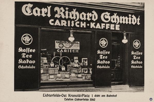 Carisch Kaffee, Filiale in Berlin - Lichterfelde am Kranoldplatz.