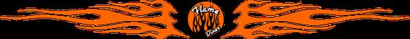 Das Flame-Diner in Berlin-Marienfelde. Logo des Flame-Diners.