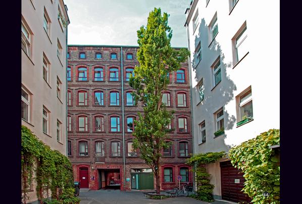 Gewerbehof Körtestraße 10 in Berlin - Kreuzberg. Blick auf die ehemalige Werkstatt im Jahr 2015.